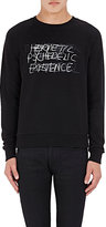 Saint Laurent Men's Scribble-Lettering Sweatshirt-BLACK