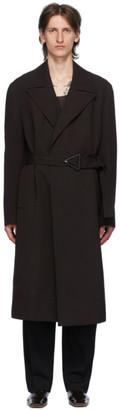 Bottega Veneta Brown Wool Drill Coat