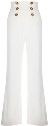 Balmain High Waist Flare Trousers