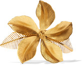 Jennifer Behr Hibiscus Gold-plated Hairclip - one size