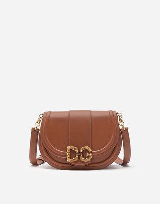 Dolce & Gabbana Medium Amore Bag In Calfskin