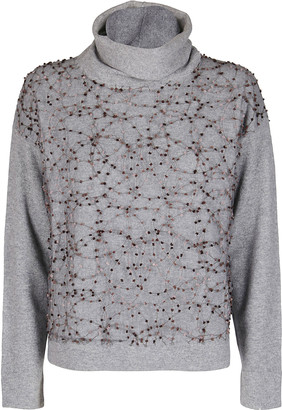 Fabiana Filippi Grey Virgin Wool-silk Blend Jumper