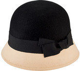 San Diego Hat Company Women's Wool Color Block Cloche with Grosgrain Bow WFH3546