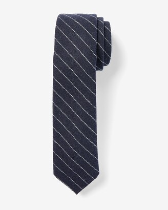 Express Narrow Textured Striped Tie
