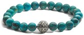 John Hardy Batu Classic Chain Sterling Silver Large Beaded Bracelet with Turquoise