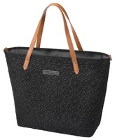 Petunia Pickle Bottom Infant 'Downtown' Floral Embossed Diaper Tote - Black