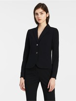 Calvin Klein Two Button Navy Suit Jacket