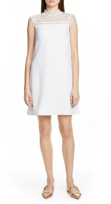 Ted Baker Carsey Crocheted Lace Yoke Shift Dress