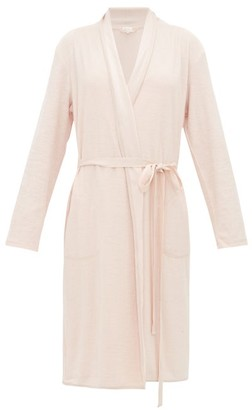 Skin French Organic-cotton Terry-towelling Robe - Light Pink