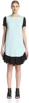 Beatrice. B Women's Flounce Hem Colorblock Dress