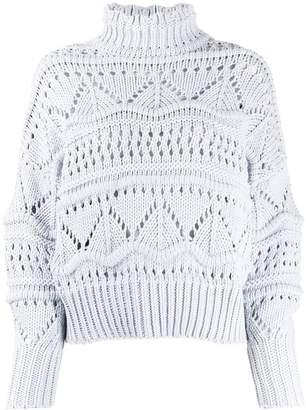 Etoile Isabel Marant embroidered roll-neck jumper
