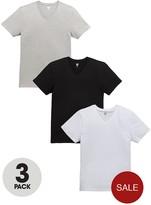 Very 3 Pack Stretch V Neck T-Shirts