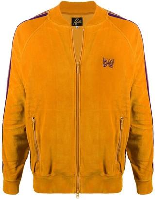 Needles Logo Zipped Bomber Jacket