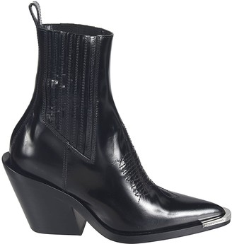 Paco Rabanne Stitching Detail Ankle Boots