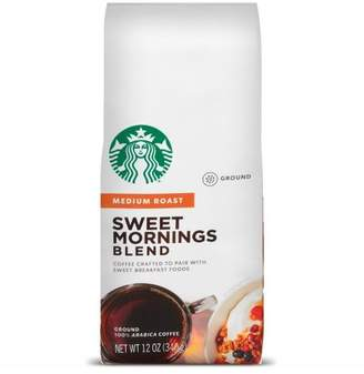 Starbucks Sweet Mornings Medium Roast Ground Coffee - 12oz