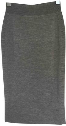 Alexander McQueen Grey Wool Skirt for Women
