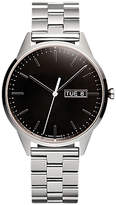 Uniform Wares C40psi01brapsi1818r01 C40 Day Date Bracelet Strap Watch, Silver/black