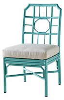 The Well Appointed House Indoor/Outdoor Aluminum Side Chair with Cushion in Blue