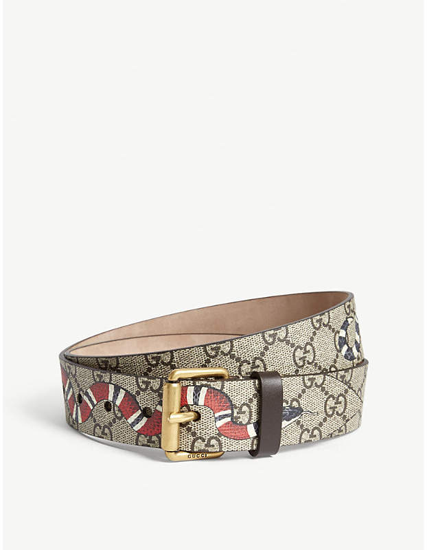 Gucci Snake GG Supreme canvas belt