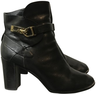AERIN Black Leather Boots