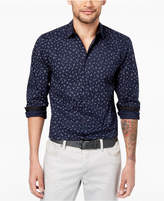 INC International Concepts Men's Stretch Wheat-Print Shirt, Created for Macy's