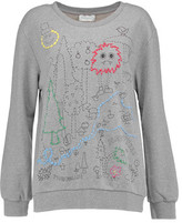 Mira Mikati Dot To Dot Embroidered Printed Cotton-Jersey Sweatshirt