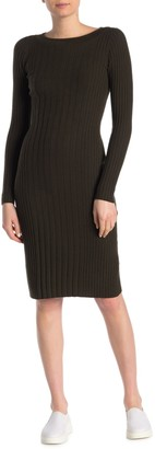 Vince Long Sleeve Rib Knit Dress