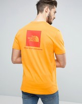 The North Face Red Box T-shirt Back Logo In Orange