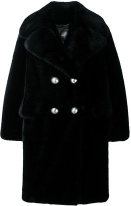 Ermanno Scervino Double-Breasted Faux-Fur Coat
