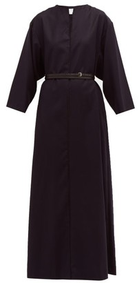 A.P.C. X Suzanne Koller Katja Wool Maxi Dress - Womens - Navy