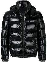 Versace patent-look puffer jacket