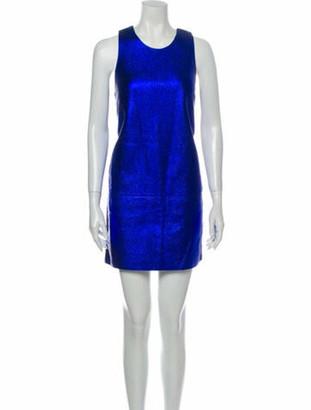 3.1 Phillip Lim Lamb Leather Mini Dress w/ Tags Black