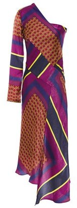House of Holland One-shoulder Patchwork-effect Satin Dress