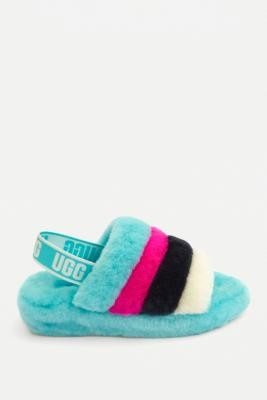 UGG Fluff Yeah Clear Water Slide Sandals - Assorted UK 4 at Urban Outfitters