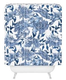 Deny Designs Holli Zollinger Summertime Indigo Shower Curtain Bedding