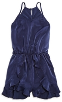 Aqua Girls' Ruffle Romper, Big Kid - 100% Exclusive