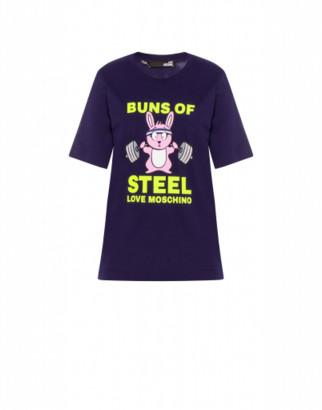 Love Moschino Jersey T-shirt Buns Of Steel