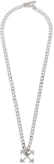 Off-White Off White Silver Arrows Necklace