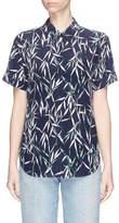 Equipment 'Betty' bamboo print silk short sleeve shirt