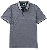 HUGO BOSS BOSS Green C-Janis Mini-Stripe Short-Sleeve Polo Shirt