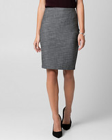 Le Château Tweed Pencil Skirt