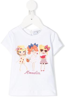 MonnaLisa summer doll print T-shirt