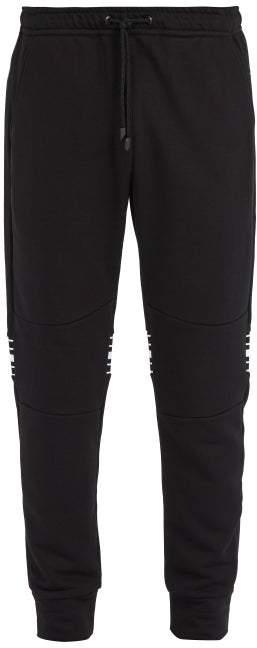 Fendi Striped Cotton Blend Track Pants - Mens - Black