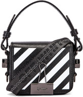 Off-White Off White Diagonal Baby Flap Bag in Black & White | FWRD