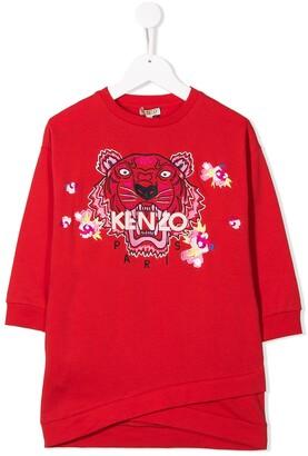 Kenzo Kids Embroidered Tiger Dress
