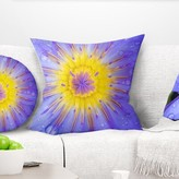 """Flowerswork Blooming Violet Lotus Close up Pillow East Urban Home Size: 16"""" x 16"""", Product Type: Throw Pillow"""