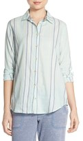 PJ Salvage Women's Stripe Cotton Twill Top