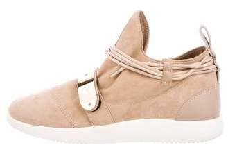 Giuseppe Zanotti Suede Slip-On Sneakers
