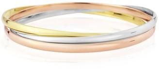 Auree Jewellery Walton 9Ct Three Colour Gold 3mm Russian Wedding Bangle