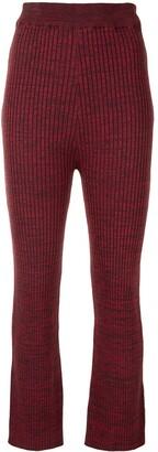 ANNA QUAN Liza ribbed knit trousers